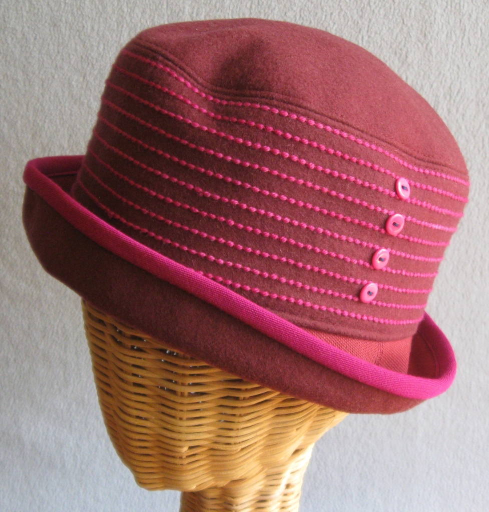 17. Striped Cloche.   small  $75.