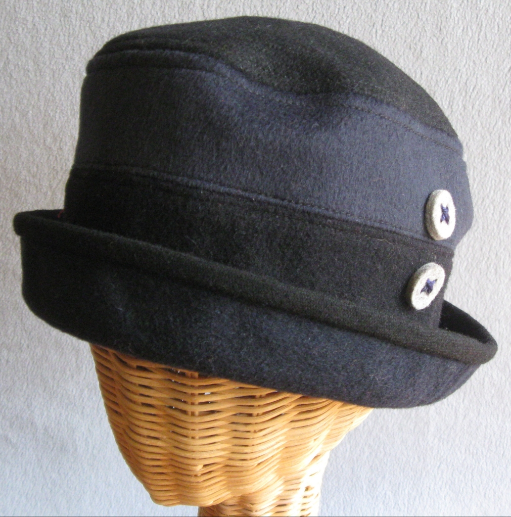 19. Two-toned Wool Cloche.     small  $85.
