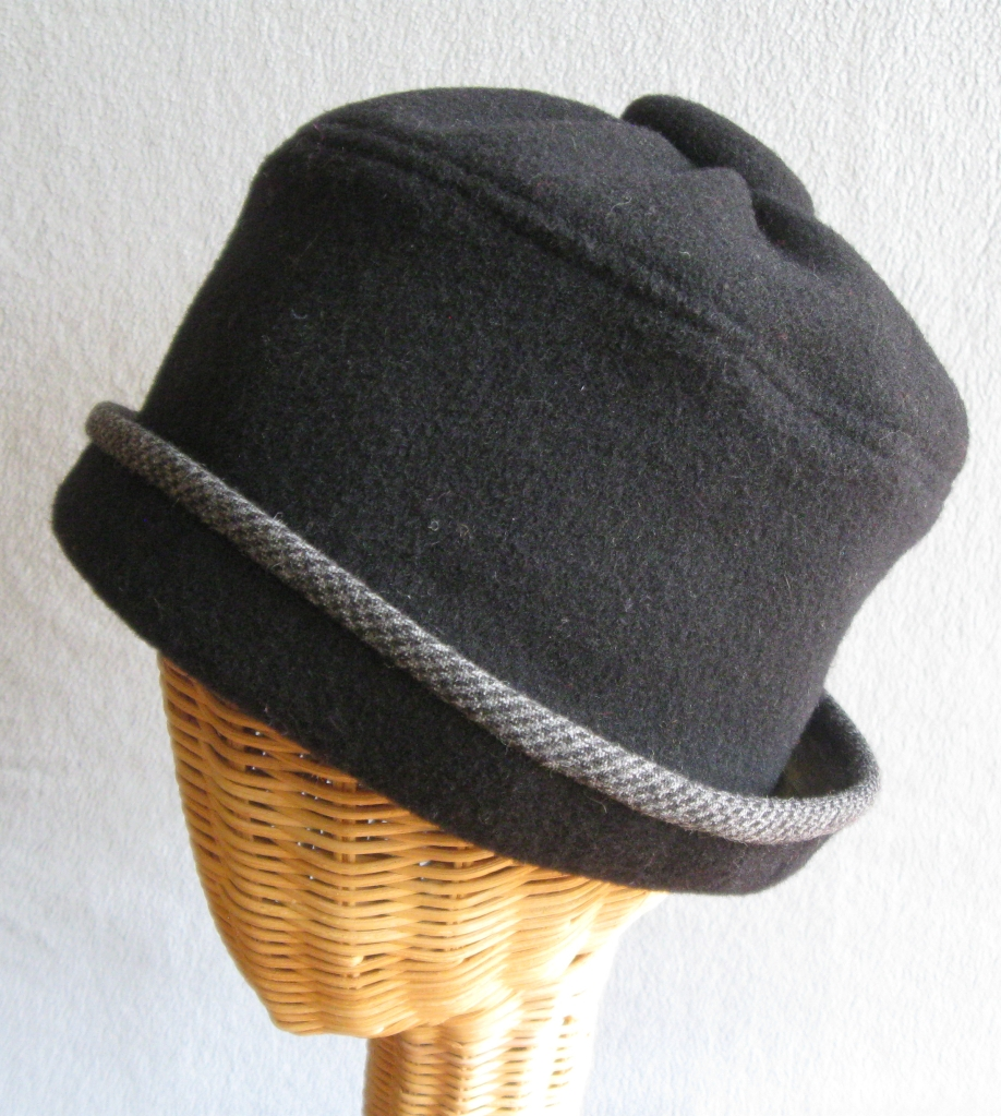 12. Wool Button Top Cloche.  small  $85.