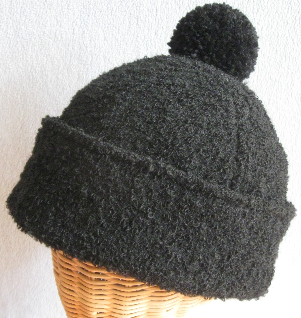 66. Black Bouclé Beanie. medium $72.