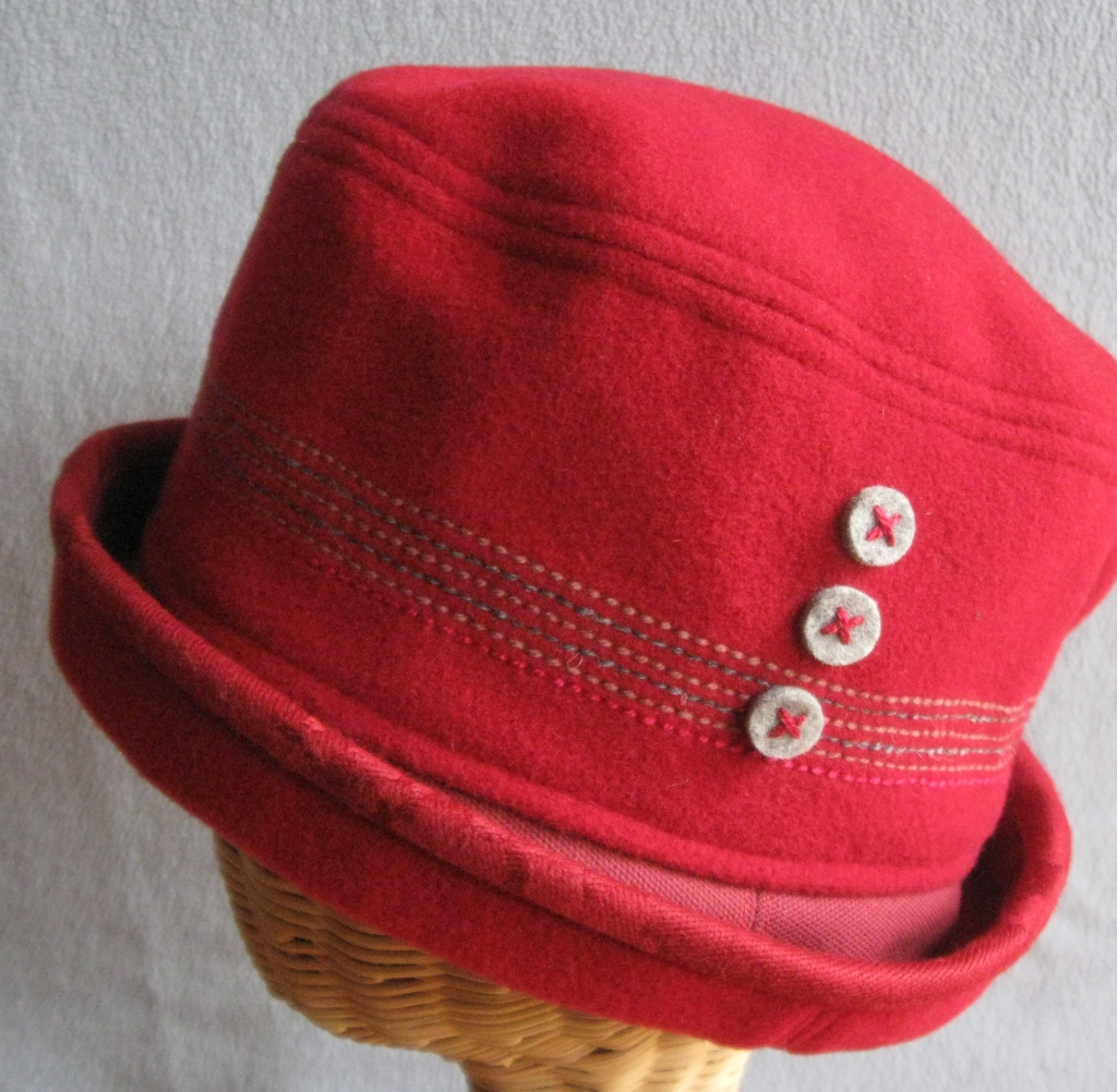 77. Red Cloche, medium  $68.