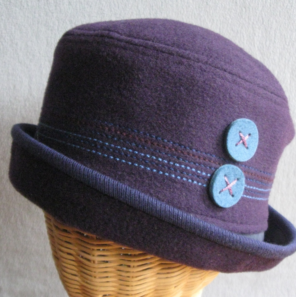 82. Purple Wool Cloche. small  $68.