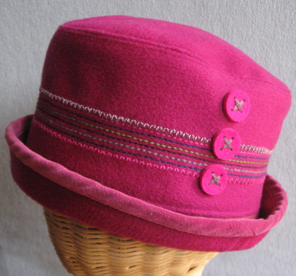 85. Wool and Velvet Cloche. $72.